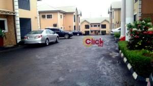 Carpark Aarons restaurant Enugu