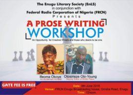 Prose Writing Workshop To Hold In Enugu