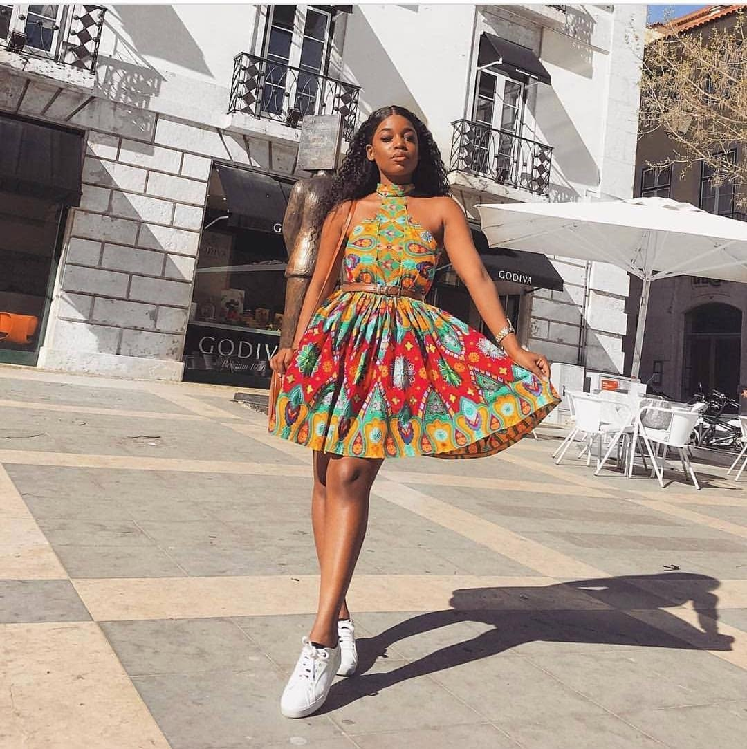 8 Ways To Wear Your Ankara Styles With White Sneakers