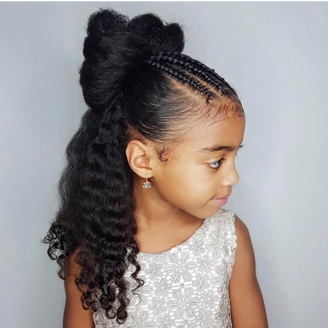 Half up half down updo braids for girls - Click042