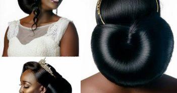 beautiful bride wearing sleek low bun with tiara and bridal jewelr