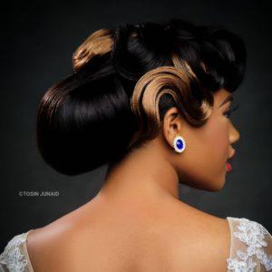 Elaborate wedding hairstyle updo