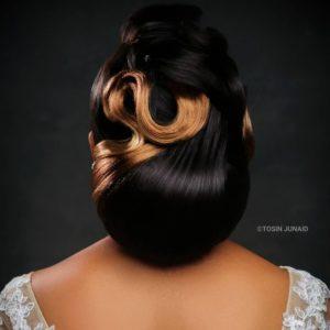 Elaborate wedding hairstyle