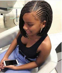 black woman wearing cute bob box braids